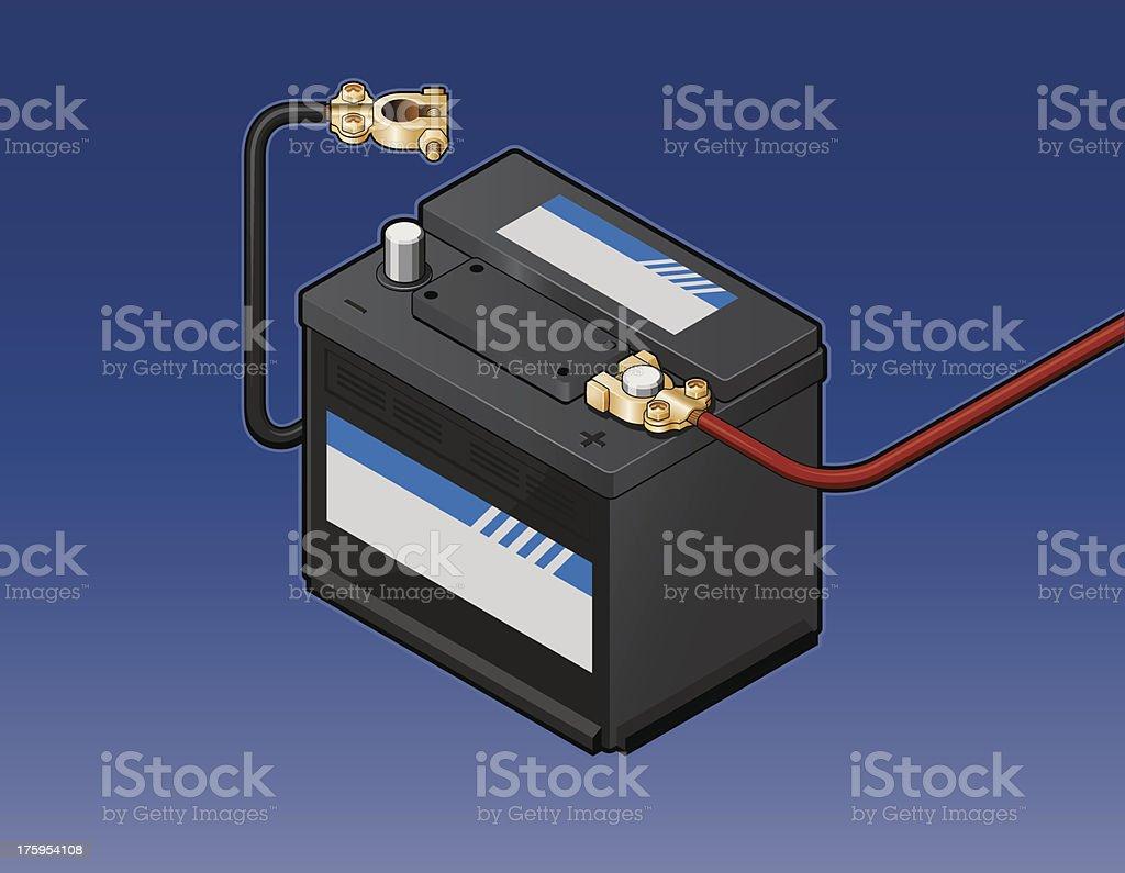 Autobatterie mit Zopfmuster – Vektorgrafik