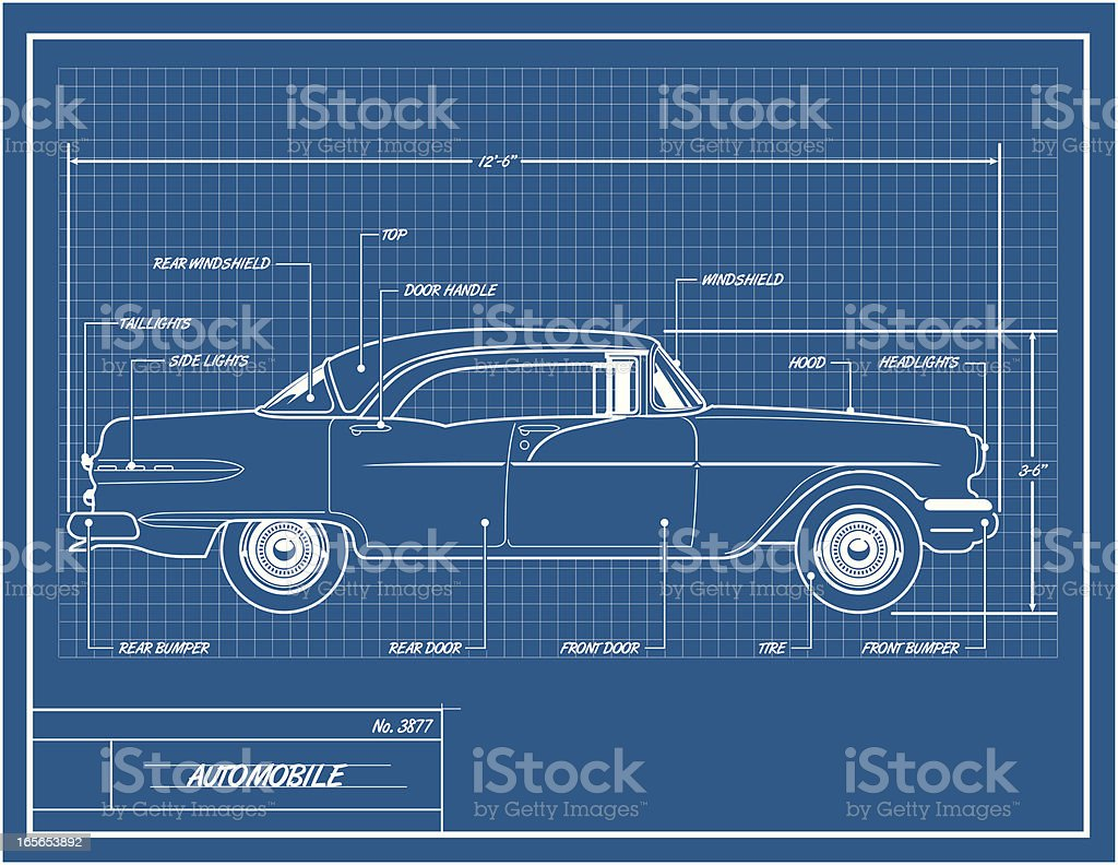 Car blueprint stock vector art more images of architectural car blueprint royalty free car blueprint stock vector art amp more images of architectural malvernweather Gallery
