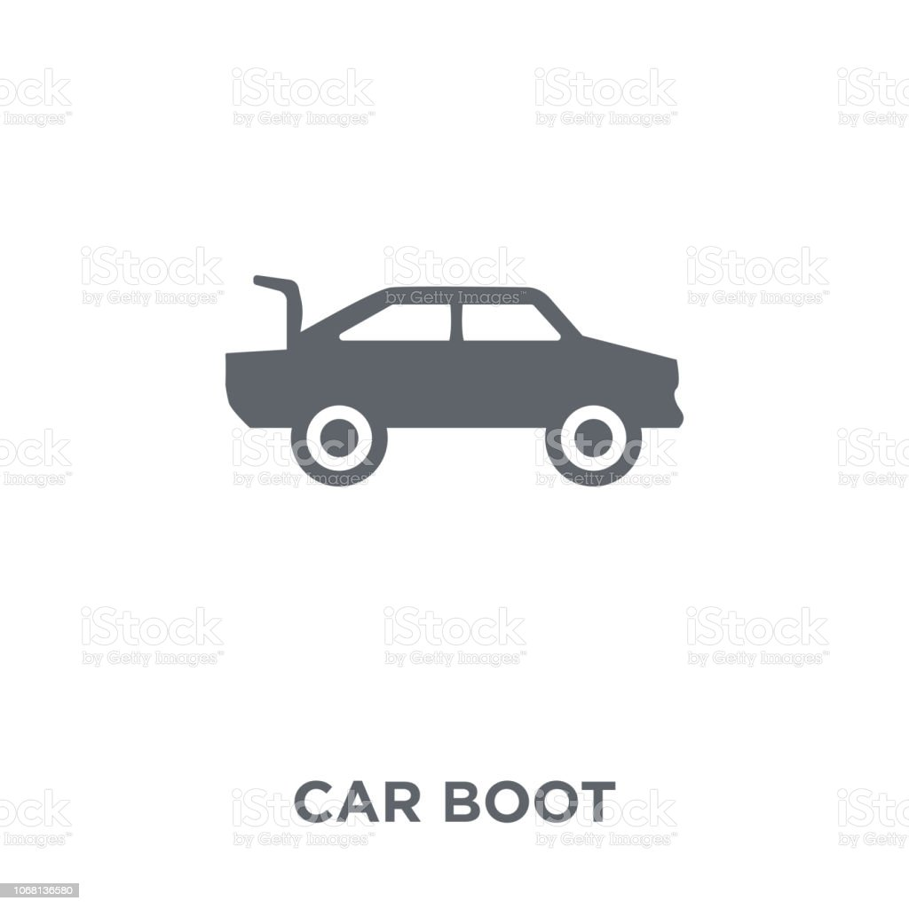 Car Boot Icon From Car Parts Collection Stock Illustration