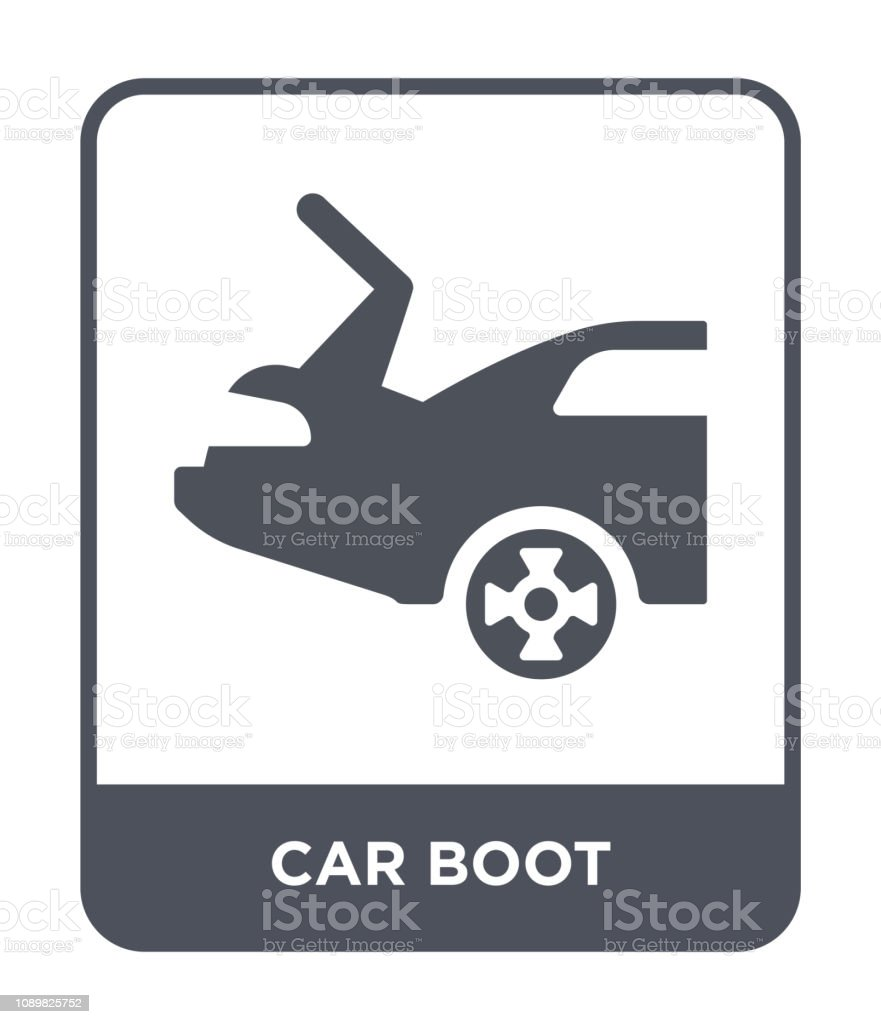 Car Boot Icon Vector On White Background Car Boot Trendy Filled