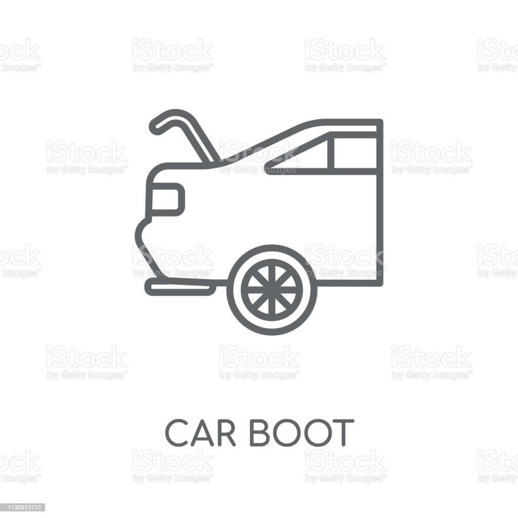 Car Boot Linear Icon Modern Outline Car Boot Logo Concept On White