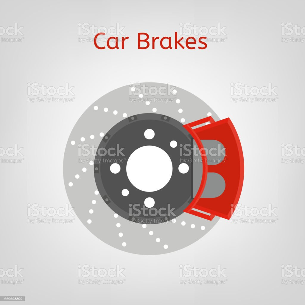 Car brakes image vector art illustration