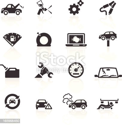 Auto Breakdown & Repair Icons. Layered & grouped for ease of use. Download includes EPS 8, EPS 10 and high resolution JPEG & PNG files.