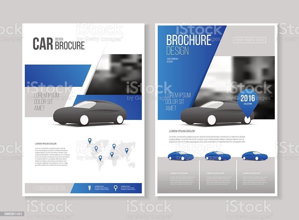 Car Brochure. Auto Leaflet Brochure Flyer Template A4 Size Desig  Royalty Free Car Brochure  Car Flyer Template
