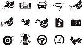 Car care icons - Illustration