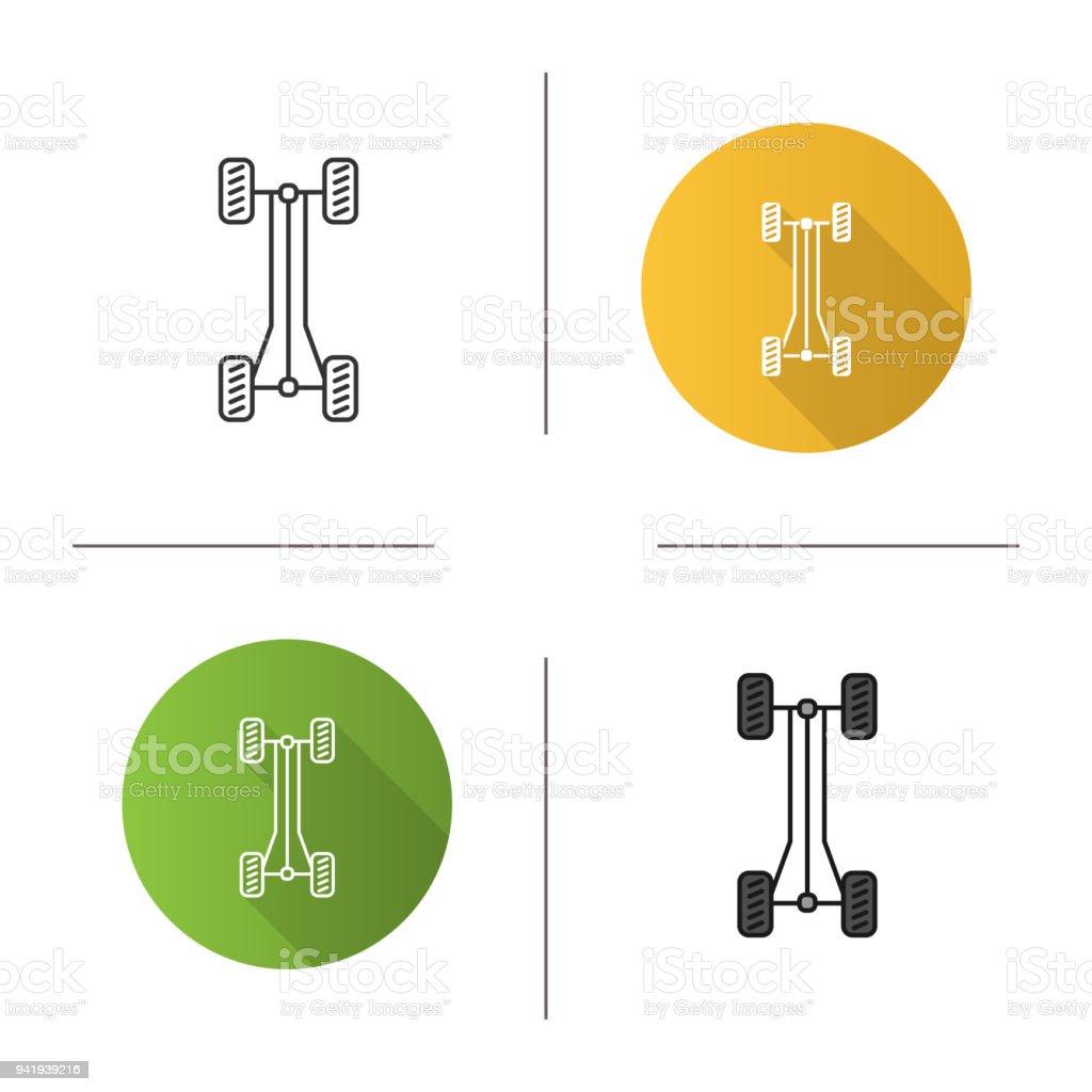 Autochassisrahmensymbol Stock Vektor Art und mehr Bilder von Auto ...