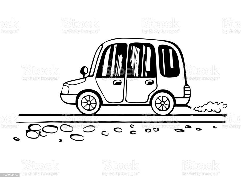 Auto Kind Zeichnung Skizze Stock Vektor Art und mehr Bilder von Auto ...