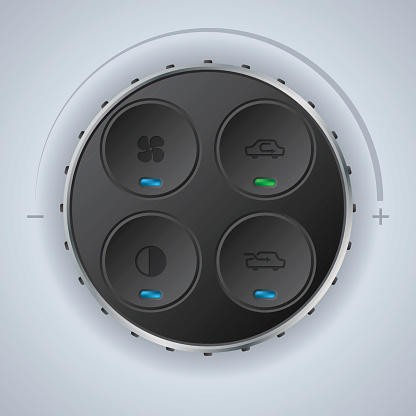 Car clima control with cool circle knobs