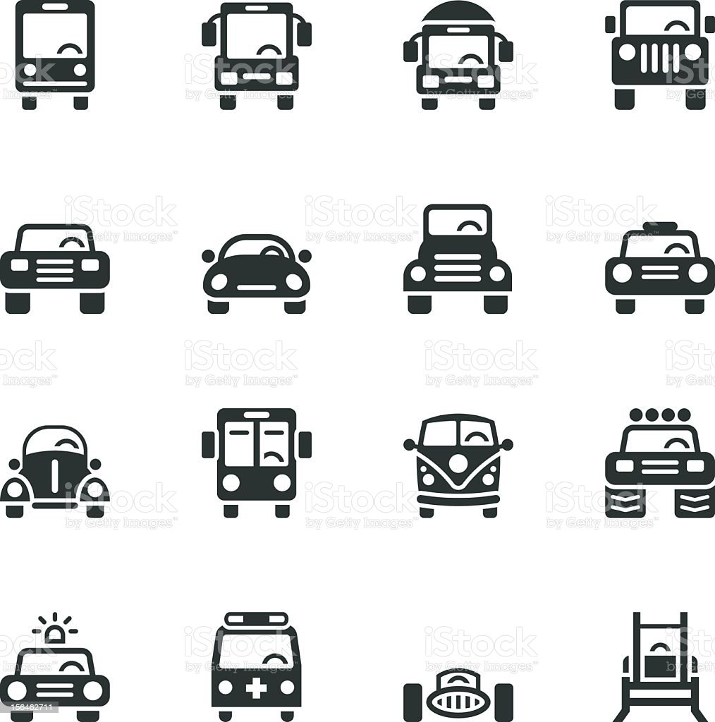 Car Collection Silhouette Icons royalty-free stock vector art