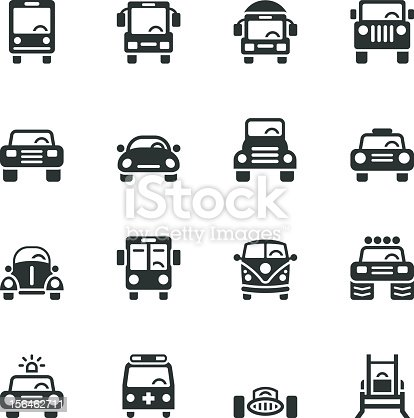 Car Collection Silhouette Vector File Icons.