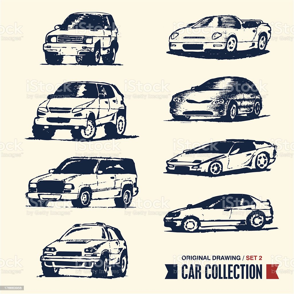 Car collection royalty-free car collection stock vector art & more images of 1990-1999