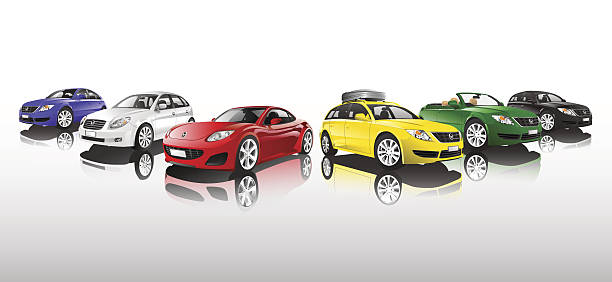 Car Collection  sports car stock illustrations