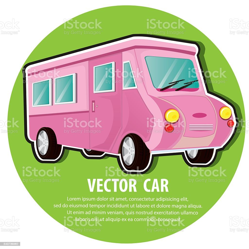 Car Color Pink Royalty Free Stock Vector Art Amp More Images
