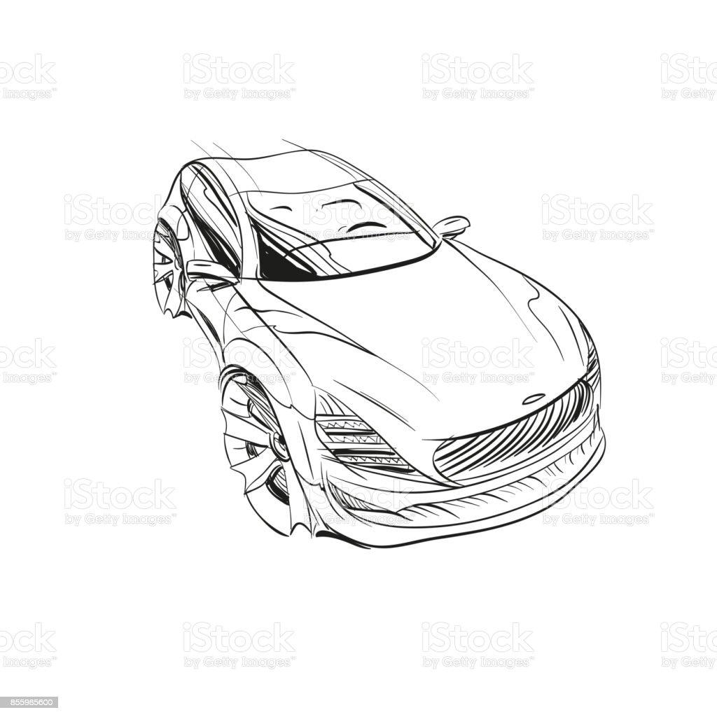 car conceptcar sketchvector hand drawnautodesign stock vector art Concept Cars of Design car concept car sketch vector hand drawn autodesign royalty free car conceptcar