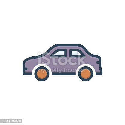 Icon for car, conveyance, carriage, transportation, transit, automotive, vehicle, automobile