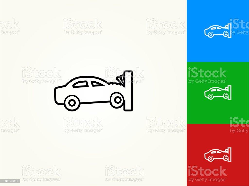 Car Crash Black Stroke Linear Icon royalty-free car crash black stroke linear icon stock vector art & more images of black color