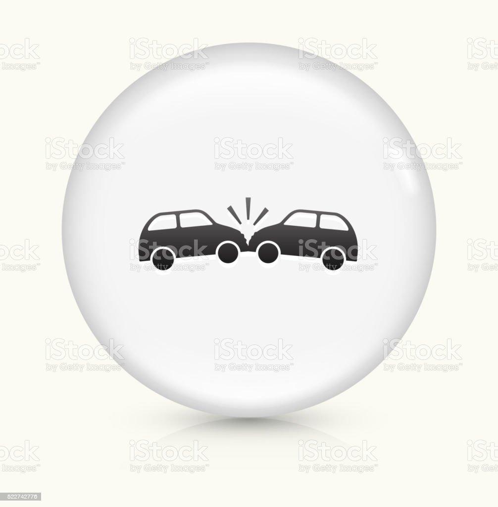 Autounfall Symbol Auf Weißer Runder Vektor Knopf Vektor Illustration ...