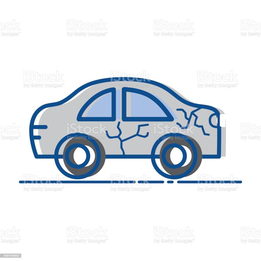 Autounfall Auf Der Straße Für Unfallkatastrophe Stock Vektor Art und ...