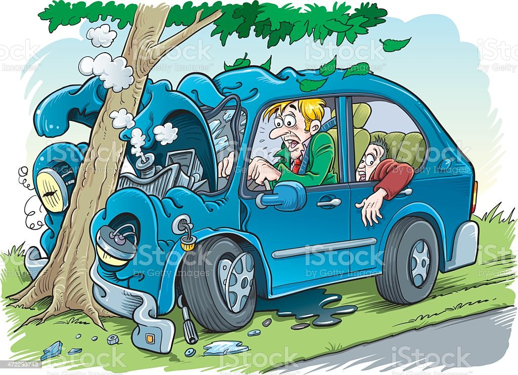 Car Crash Stock Vector Art & More Images of Accidents and Disasters ...