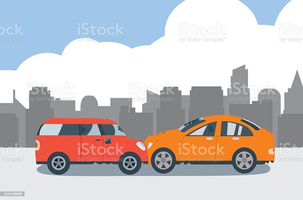 Autounfall Vektor Illustration 545458980 | iStock