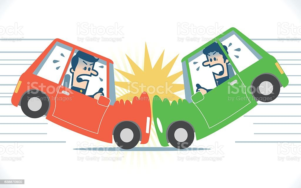 royalty free car accident scene clip art vector images rh istockphoto com Car Collision Clip Art car crash clipart