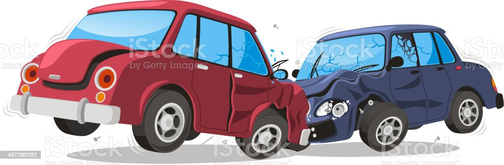 Car Crash Vehicle Collision vector art illustration