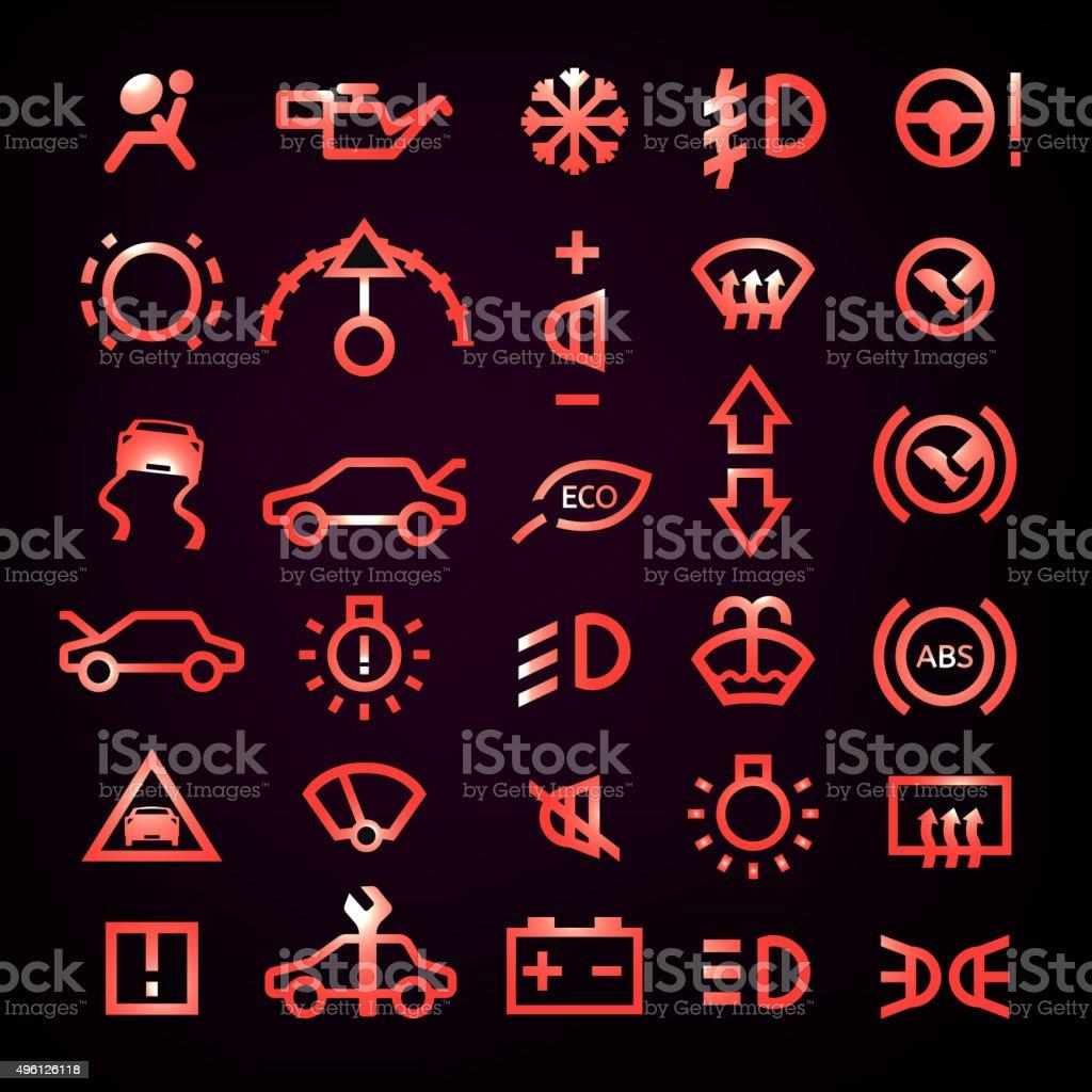 Car Dashboard icon vector art illustration