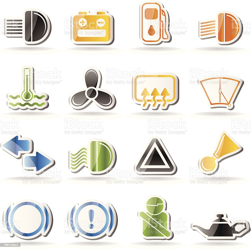 Car Dashboard icons royalty-free stock vector art