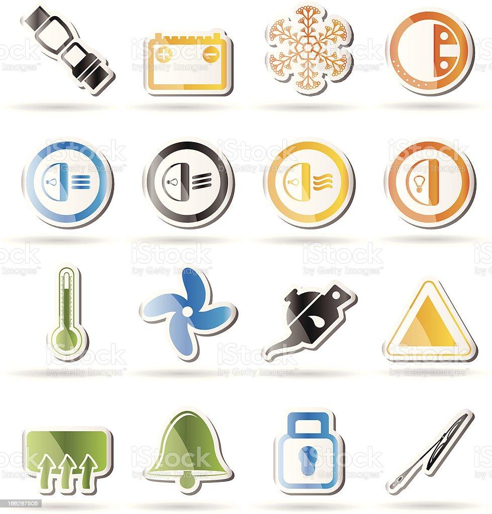 royalty free car horn dashboard symbol alertness clip art