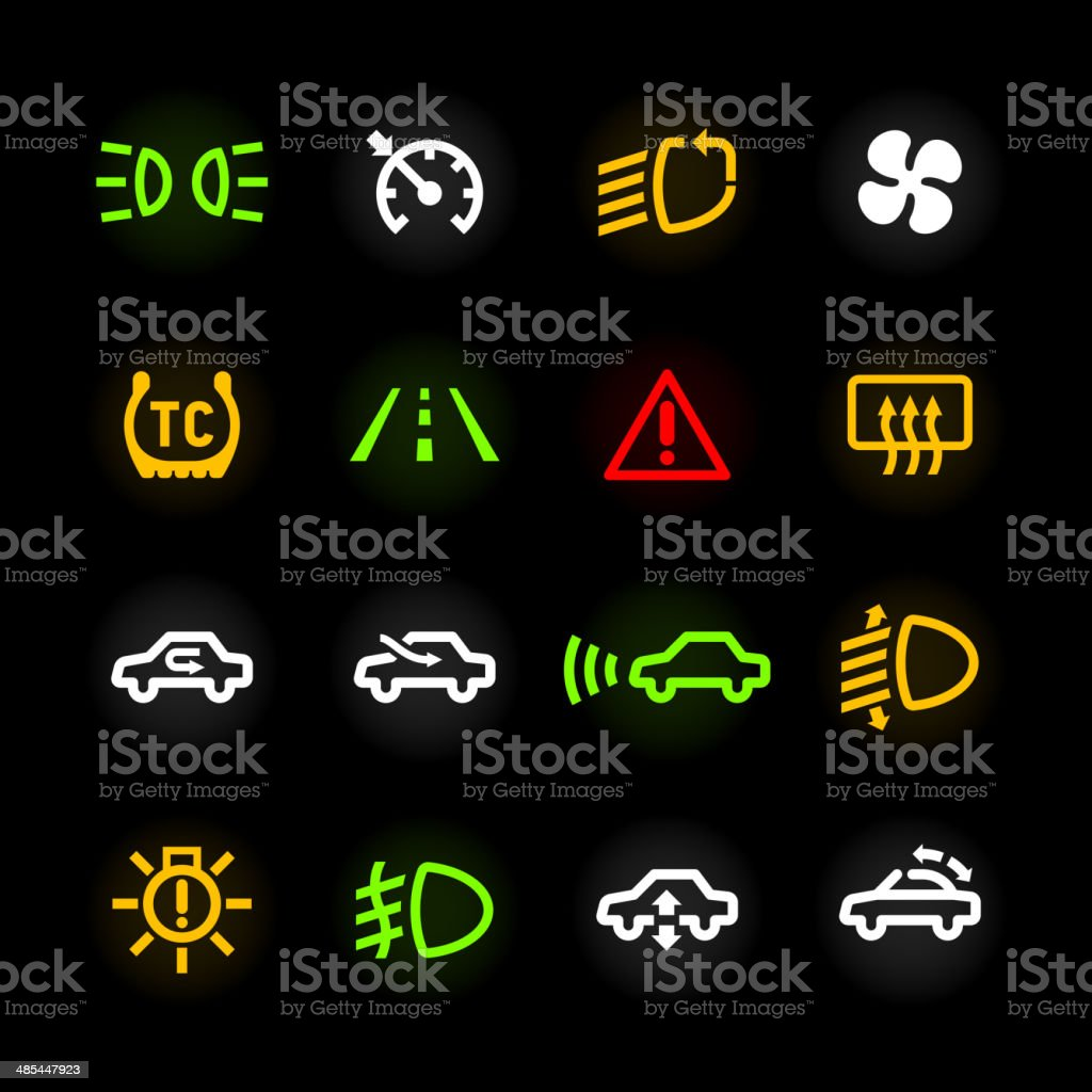 car dashboard icons stock vector art amp more images of air