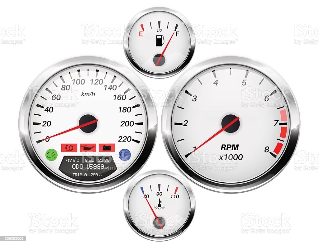 Car Dashboard Speedometer Tachometer Fuel And Temperature Gauge - Car signs on dashboardcar dashboard signs speedometer tachometer fuel and temperature