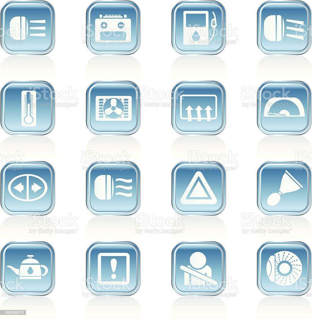 car horn dashboard symbol alertness clip art vector