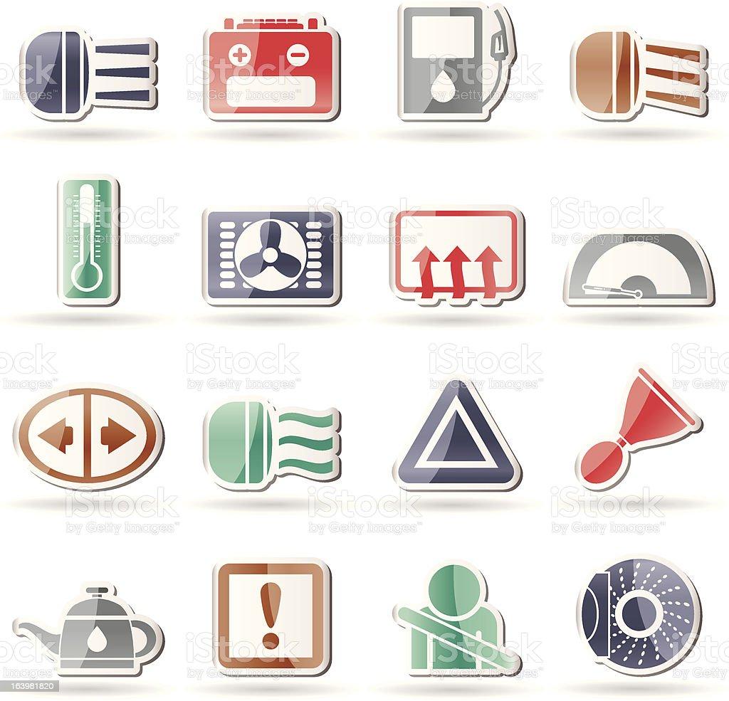 Car Dashboard royalty-free car dashboard stock vector art & more images of alertness