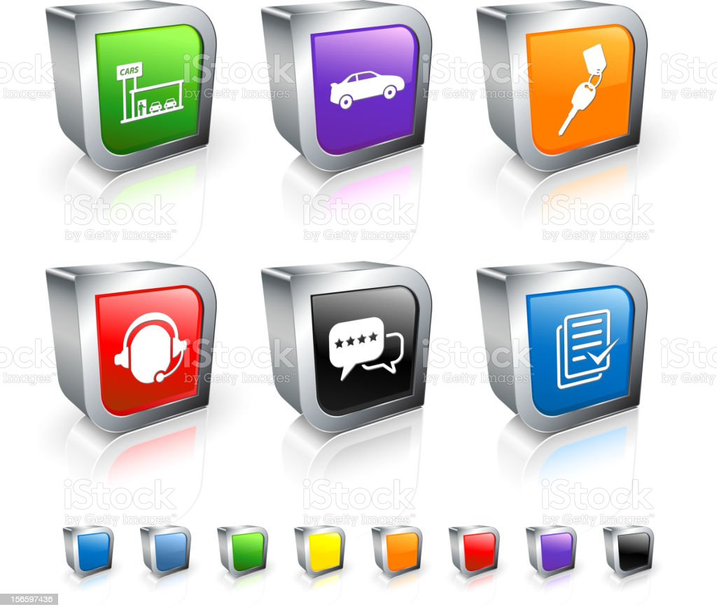 Car dealership agreement 3D royalty free vector icon set royalty-free car dealership agreement 3d royalty free vector icon set stock vector art & more images of agreement