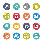 Car Dealership Icons - Circle Series