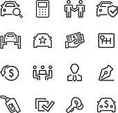 Car Dealership Icons - Line Series