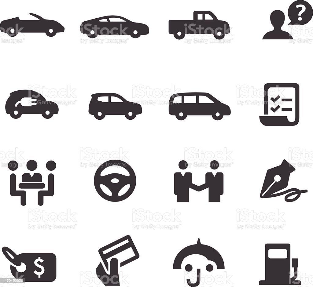 Car Dealership Icons Set - Acme Series vector art illustration