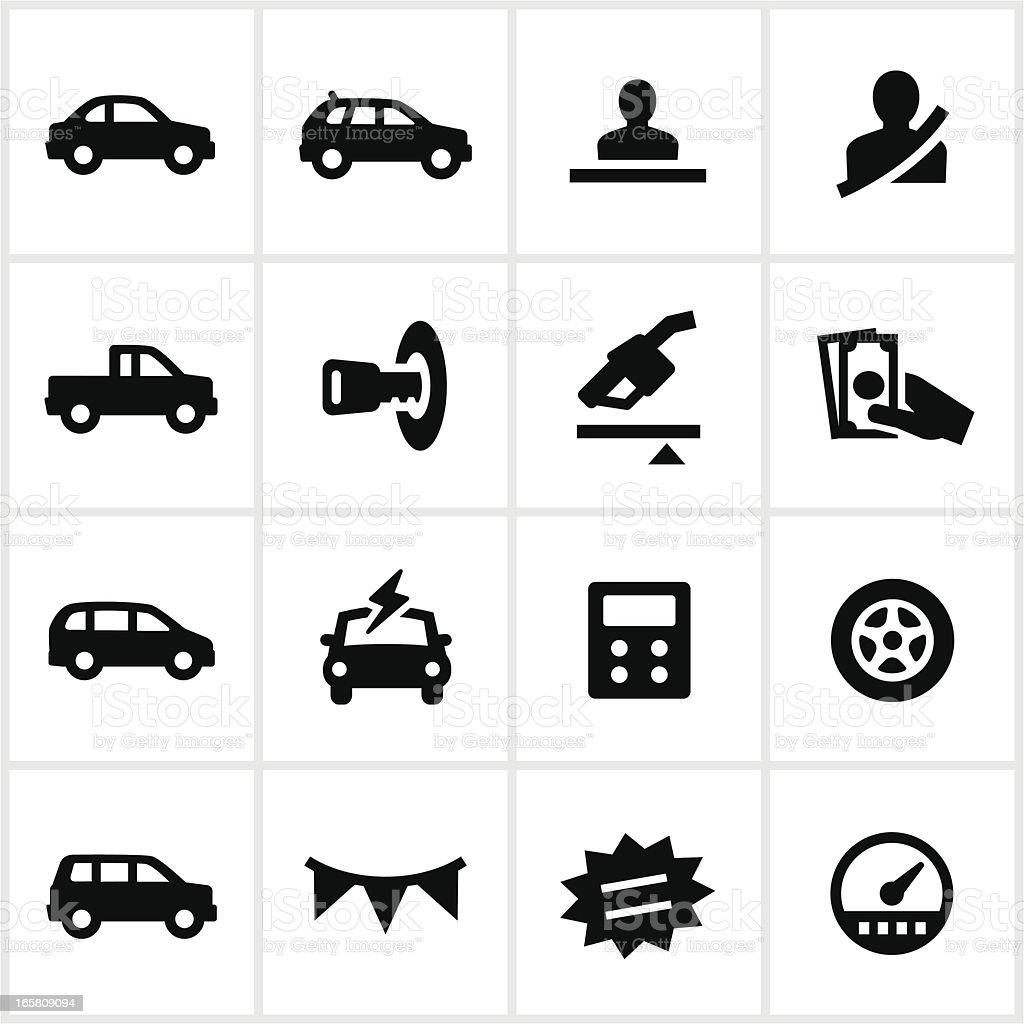 Car Dealership Icons royalty-free stock vector art
