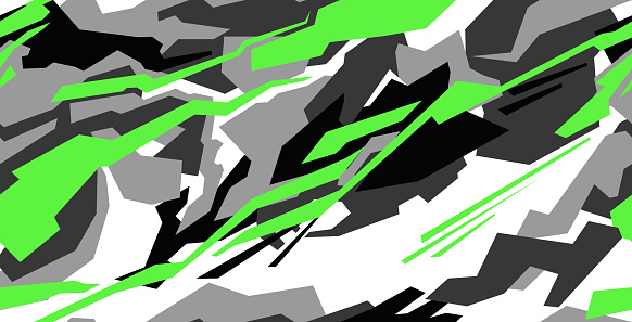Car decal wrap design vector. Graphic abstract stripe racing background kit designs for vehicle