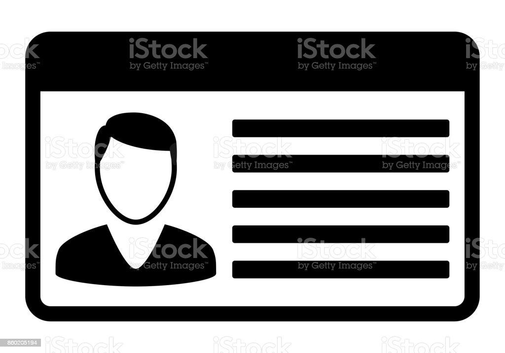 Coche conductor licencia tarjeta iocn. - ilustración de arte vectorial