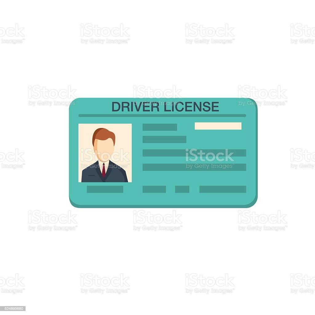 Car driver license identification vector art illustration