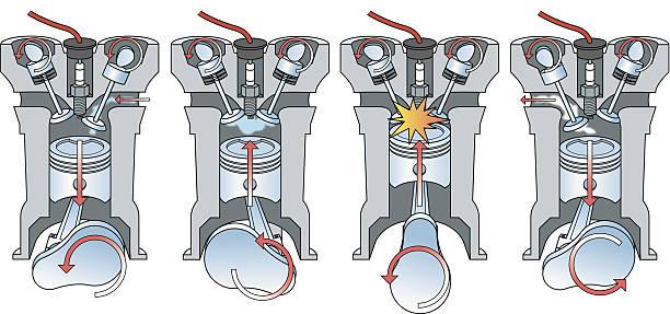 Motor Kolben Vektorgrafiken und Illustrationen - iStock