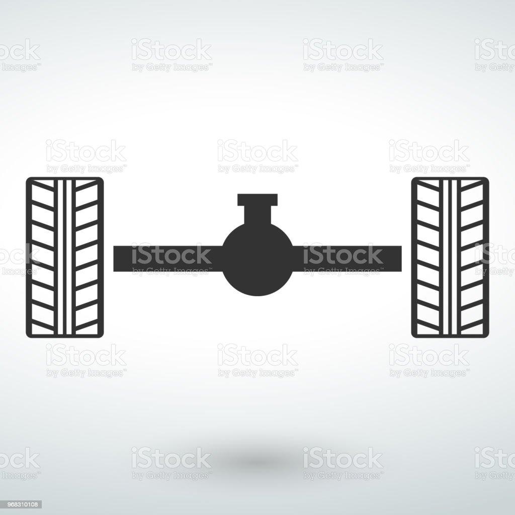 Auto Motor Teile Vector Icons Isoliert Vektor Auf Weißem Hintergrund ...