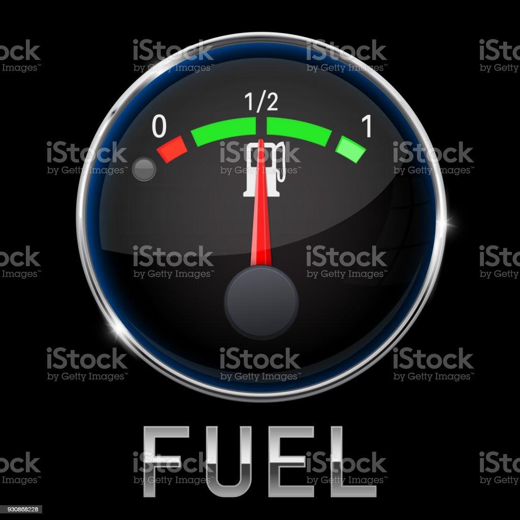 Auto Motor Schwarz Temperaturanzeige Normal Mit Metallrahmen Stock ...