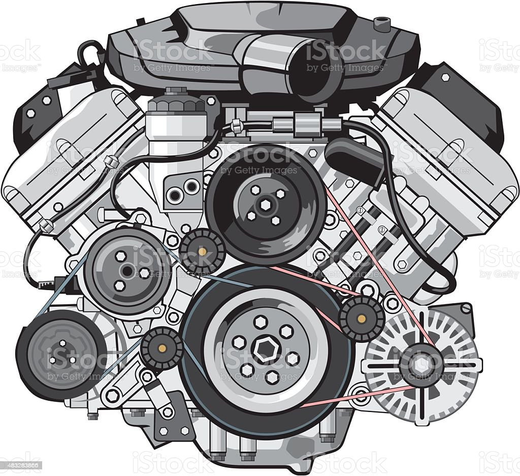 Car Engine Stock Vector Art & More Images of 2015 483283866 | iStock