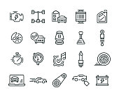 Car Features Icon Set