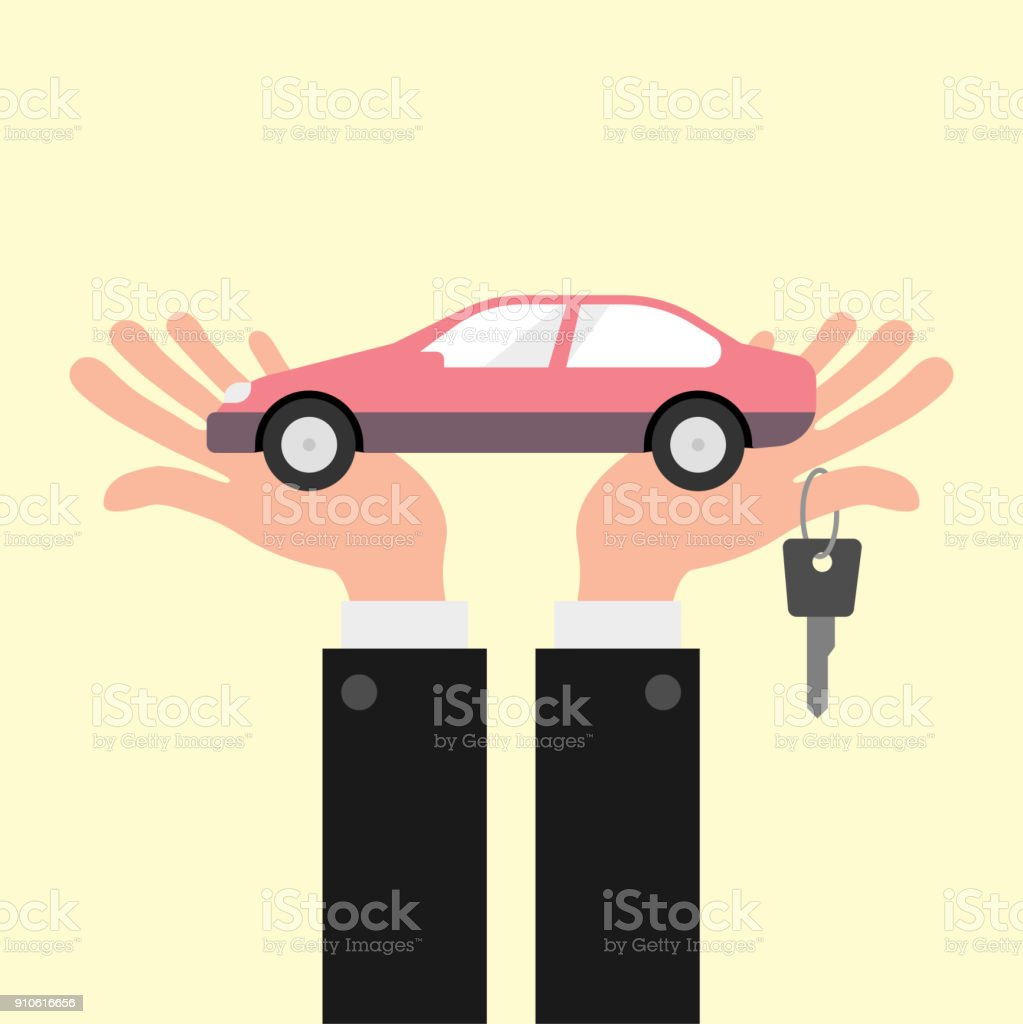 Car finance concept illustration vector art illustration