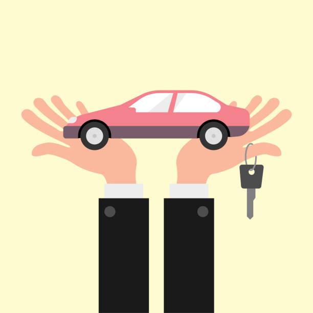 Car finance concept illustration vector art illustration