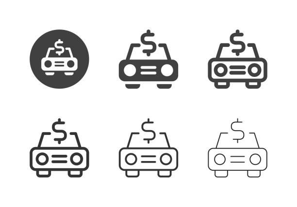 Car Finance Icons - Multi Series vector art illustration