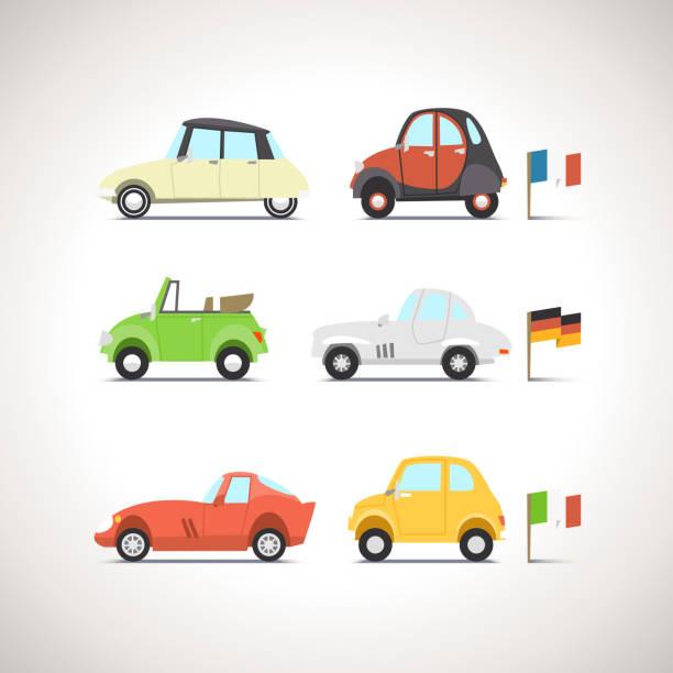 자동차모드 평편 아이콘 세트 8 - 독일 문화 stock illustrations